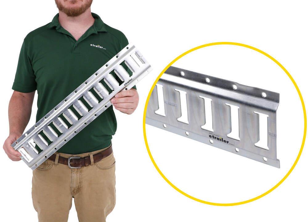 Erickson Horizontal E-Track - Zinc Plated Steel - 2,000 lbs - 2' Long - Qty 1 Horizontal EM59150