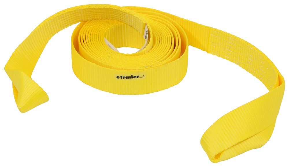 "Erickson Recovery Strap w/ Twisted Loop Ends - 2"" x 20' - 7,500 lbs Max Vehicle Weight Light Duty EM59796"