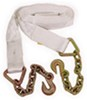 erickson tow straps and recovery grab hooks standard duty strap w/ chain leads - 3 inch x 25' 9 000 lbs max vehicle weight