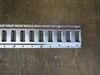 0  e-track brophy rails horizontal - zinc plated steel 5' long qty 1