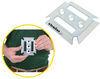 brophy e-track rails 2-slot horizontal - zinc plated steel qty 1