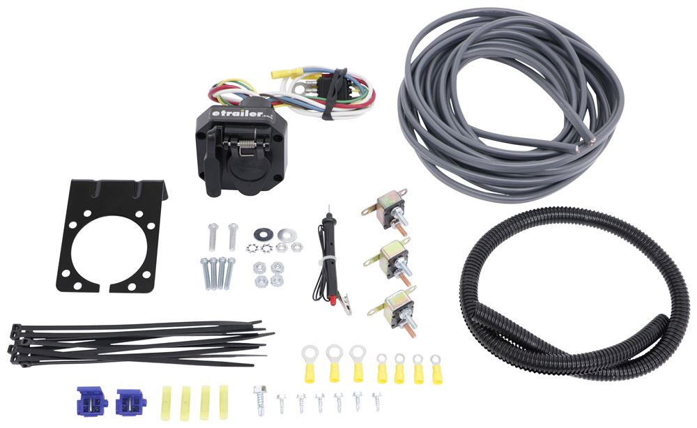 Universal Installation Kit for Trailer Brake Controller - 6-Way and 4-Way Flat - 10 Gauge Wires Installation Kit ETBC6