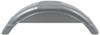 "Single Axle Trailer Fender w Top Step - Style C - Silver Plastic - 8"" - 12"" Wheels - Qty 1 21-1/2 Inch Long F008561"
