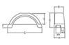 Trailer Fenders F008561 - 21-1/2 Inch Long - Fulton