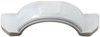 """Fulton Single Axle Trailer Fender with Top and Side Steps - White Plastic - 13"""" Wheels - Qty 1 White F008573"""