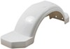 "Fulton Single Axle Trailer Fender with Top and Side Steps - White Plastic - 14"" Wheels - Qty 1 42-5/8 Inch Long F008574"