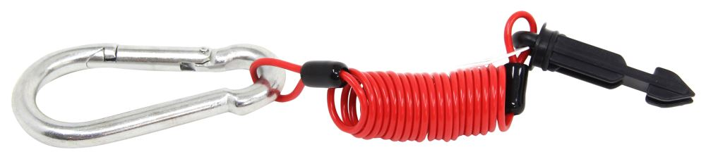 Fastway Zip Coiled Trailer Breakaway Cable w/ Plunger Pin - 4' Long Cables FA80-01-2204