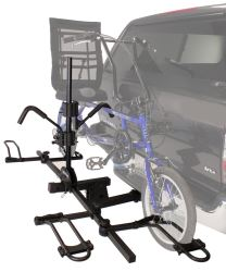 Hitch-mounted bicycle carrier for tandems in use