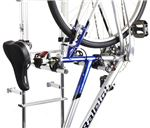 Ladder mounted bicycle carrier for RVs and motorhomes