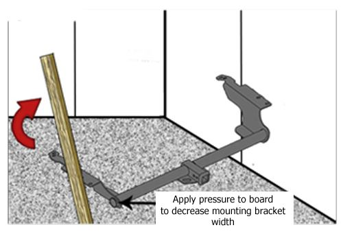 Use Wall to Straighten Mounting Bracket