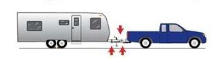 Vehicle and trailer with weight distribution