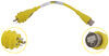 furrion marine power cord adapter pigtails - 15a female to 30a male yellow