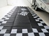 0  patio accessories faulkner outdoor mats mat rv - finish line black and white 8' x 20'