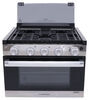 furrion rv stoves and ovens range gas cooktop 2-in-1 oven with glass cover - 17 inch tall stainless steel