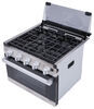 furrion rv stoves and ovens range 2-in-1 oven with glass cover - 17 inch tall stainless steel