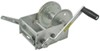 fulton trailer winch standard hand crank high-performance 2-speed with handbrake - cable only zinc 3 700 lbs