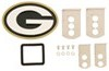 """Green Bay Packers 2"""" Oval NFL Trailer Hitch Receiver Cover Green Bay Packers FTHS115S"""