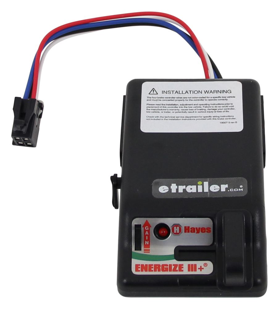 Hayes-Lemmerz Energize III+ Electric Trailer Brake Controller - Proportional Under-Dash Box HA81742B