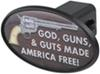 """God, Guns, & Guts 2"""" Trailer Hitch Receiver Cover - ABS Plastic Novelty HCC11486"""