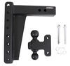 bulletproof hitches trailer hitch ball mount adjustable 2 inch 2-5/16 two balls 2-ball for 2-1/2 - 10 drop/rise 22 000 lbs