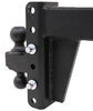 bulletproof hitches trailer hitch ball mount adjustable 12000 lbs gtw 22000 2-ball for 3 inch - 6 drop/rise 22 000