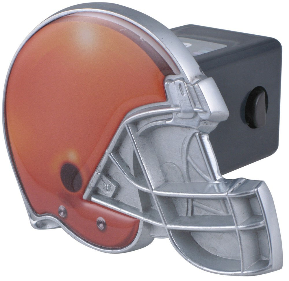 "Cleveland Browns Helmet 2"" NFL Trailer Hitch Receiver Cover Metal Face HHCC2004"