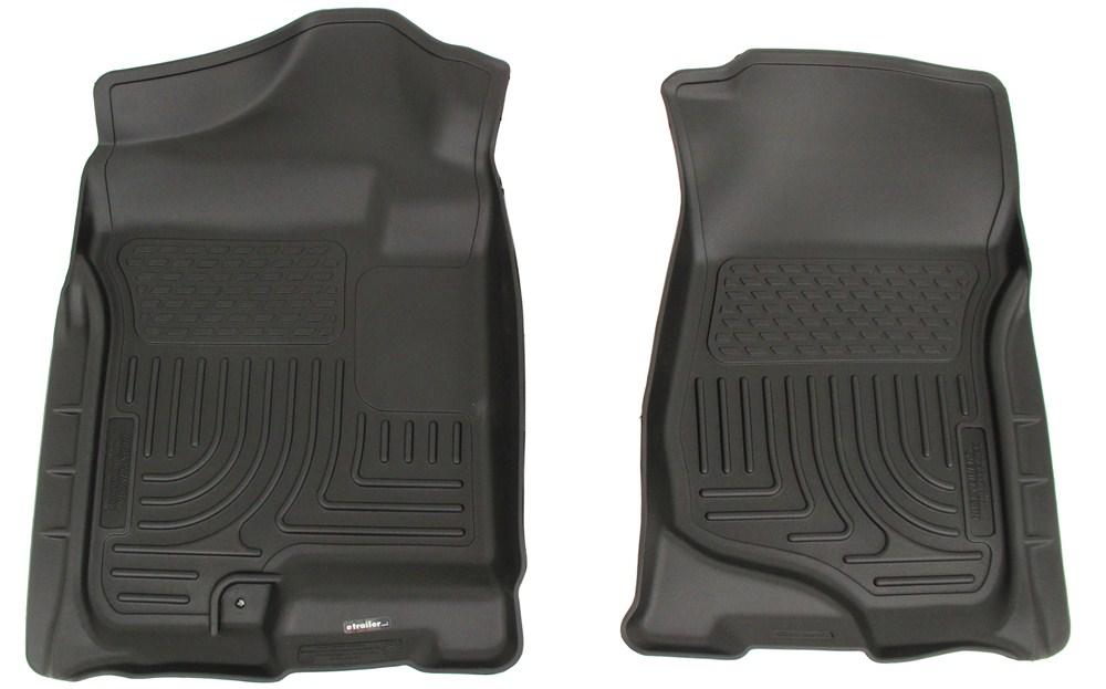 Husky Liners WeatherBeater Custom Auto Floor Liners - Front - Black Contoured HL18201