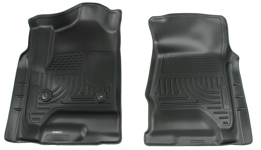 Husky Liners WeatherBeater Custom Auto Floor Liners - Front - Black Black HL18231