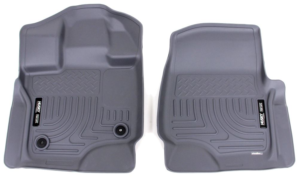 Husky Liners WeatherBeater Custom Auto Floor Liners - Front - Gray Gray HL18362