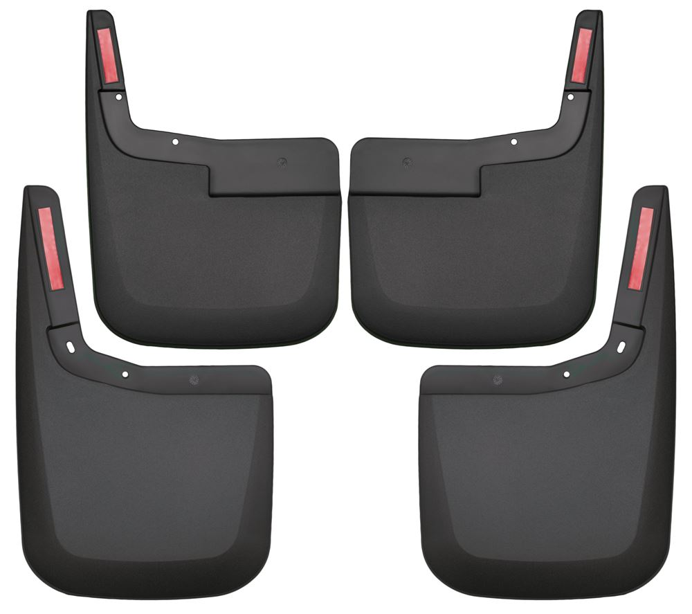 Husky Liners Custom Molded Mud Flaps - Front and Rear Set Drilling Required HL58441-HL59441