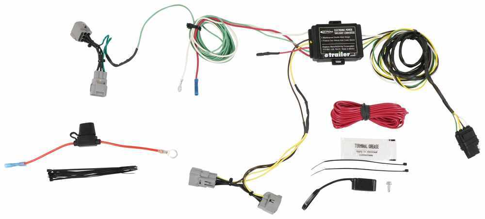 Hopkins Plug-In Simple Vehicle Wiring Harness with 4-Pole Flat Trailer Connector Powered Converter HM11142464