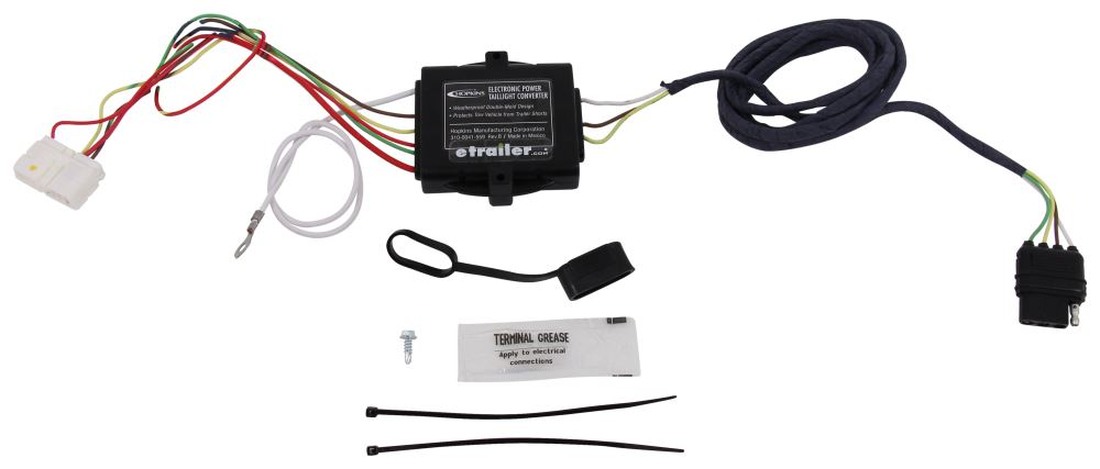 Hopkins Plug-In Simple Vehicle Wiring Harness with 4-Pole Flat Trailer Connector Custom Fit HM11143275