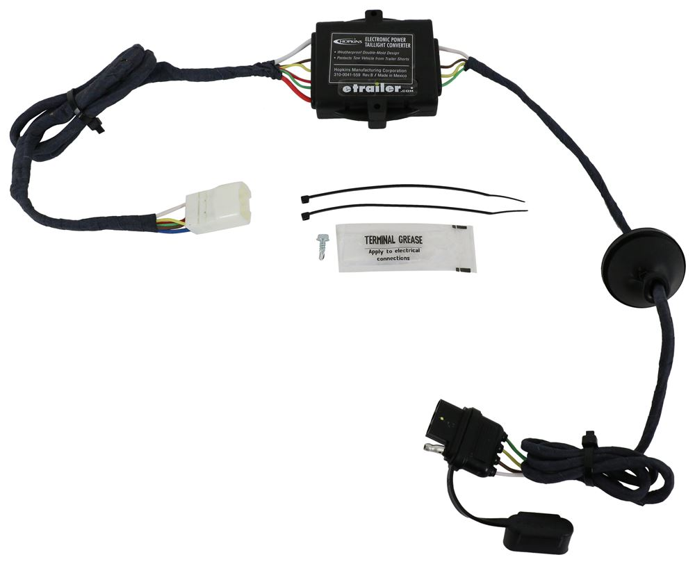 Hopkins Plug-In Simple Vehicle Wiring Harness with 4-Pole Flat Trailer Connector Converter HM11143865