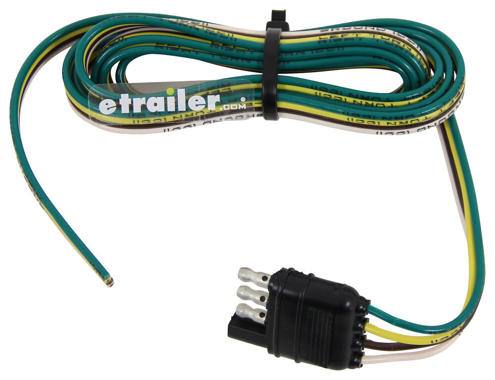 Hopkins Wiring Harness with 4-Pole Flat Trailer Connector - Trailer End - 6' Long Plug and Lead HM38168