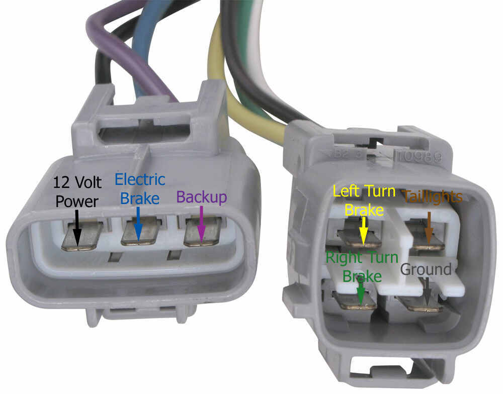 2016 Toyota Tundra Hopkins Plug-In Simple Vehicle Wiring Harness for  Factory Tow Package - 7-Way and 4-Flat Connectorsetrailer.com
