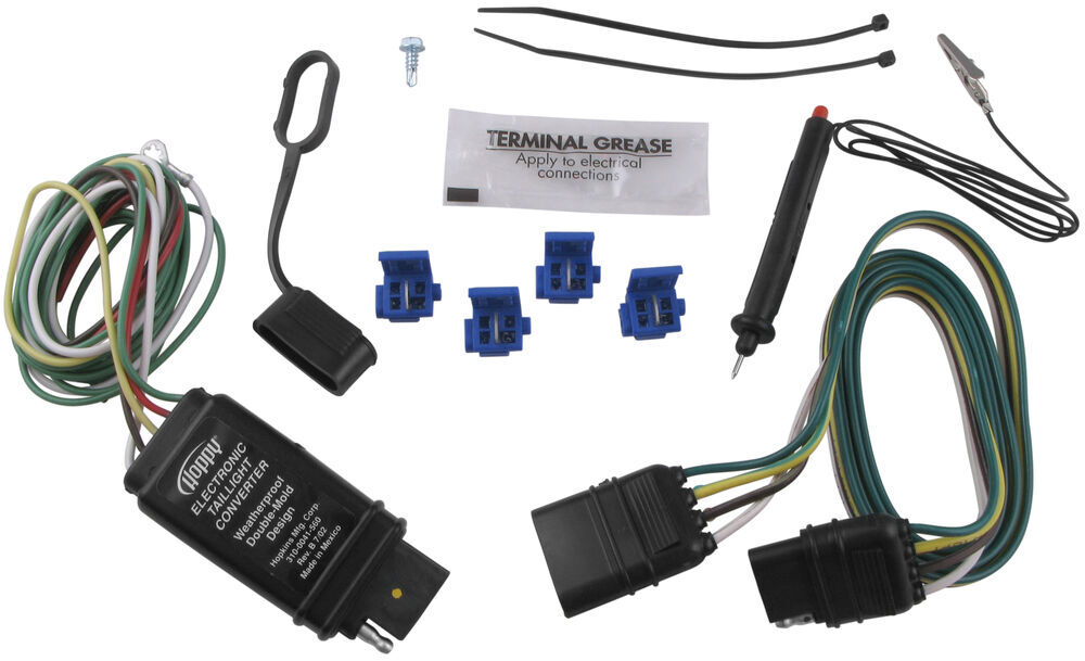 Hopkins Vehicle Wiring Converter with 4-Pole End - Includes Tester and Connectors Plug and Lead HM46155