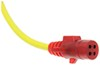 Hopkins Nite-Glow Tow Bar Extension Cord w/ Socket - Coiled - 7-Way RV to 4-Way Round - 8' Long 7 Blade to 4 Round HM47044