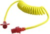 Hopkins Heavy-Duty Trailer Coiled Extension - 4-Pole Round - with Nite-Glow 4 Round to 4 Round HM47045