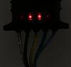 "Hopkins 5-Way Flat Trailer Connector w/ LED Test Lights - Trailer End - 24"" Plug and Lead HM47913"