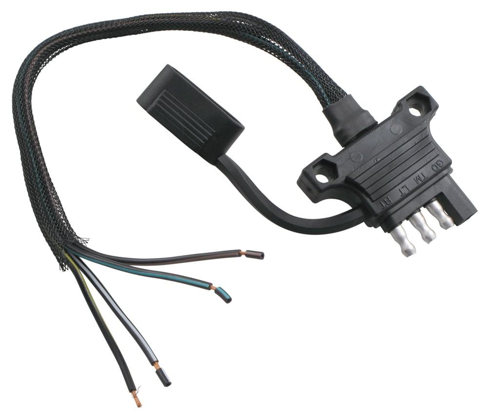Hopkins Endurance 4-Way Flat Trailer Connector - Trailer End - Ergonomic Design Plug and Lead HM48110