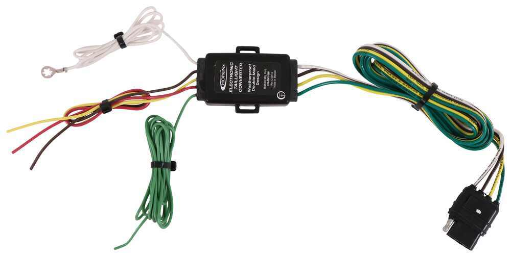 Hopkins Tail Light Converter Kit with 4-Pole Flat Trailer Connector Plug and Lead HM48925