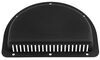 redline rv vents and fans wall vent 2-piece polypropylene trailer for 3 inch diameter hole - black