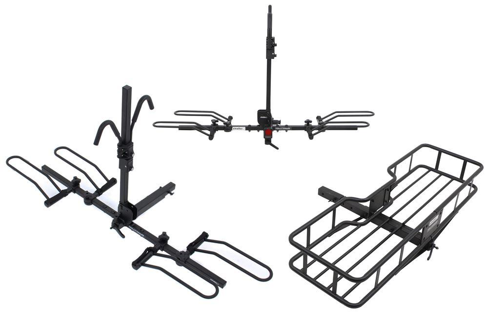 HR1400Z-85 - Heavy Bikes Hollywood Racks Platform Rack,Platform Rack with Cargo Basket