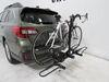 2019 subaru outback wagon hitch bike racks hollywood platform rack tilt-away fold-up on a vehicle