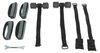 hollywood racks trunk bike frame mount - anti-sway 3 bikes over-the-top rack for vehicles w/ spoilers adjustable arms
