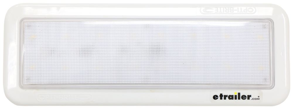Opti-Brite LED RV Mini Dome Light - 354 Lumens - Rectangle - Neutral White - Clear Lens Dome Light ILL07COB