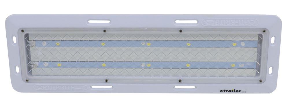 Opti-Brite LED RV Dome Light - 880 Lumens - Flange Mount - Rectangle - Clear Lens LED Light ILL10CCB