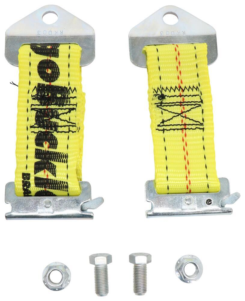 """E-Track Adapter Straps for CargoBuckle Ratcheting Tie-Down Straps - 7"""" Long - 2,500 lbs - Qty 2 Manual IMF14087"""