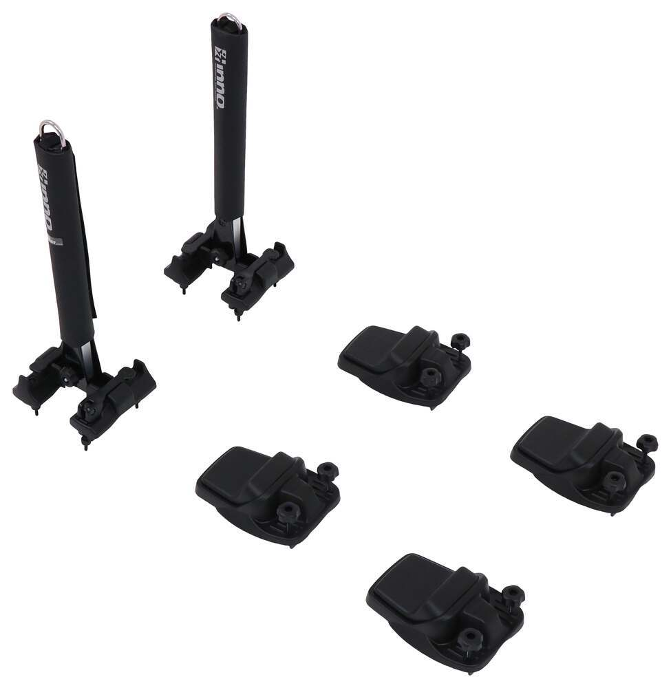 Inno Kayak Carrier w/ Tie-Downs - J-Style - Folding - Clamp On - 2 Kayaks No Load Assist INA455