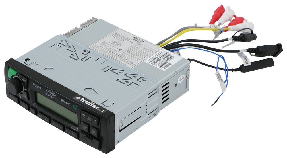 Jensen Heavy Duty Mechless RV Stereo - Single DIN - AUX/USB, Weatherband, Bluetooth - 12V 12V JHD1635BTB